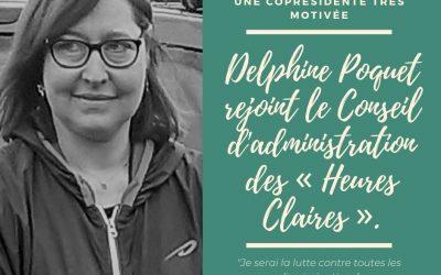 Delphine Poquet rejoint le CA des «Heures Claires» …